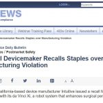 lots2 150x150 - Intuitive Surgical recalls staples: how hospitals should deal with the situation?